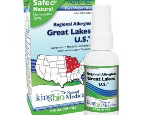 King Bio Homeopathic Regional Allergies: Great Lakes U.S. 2oz.