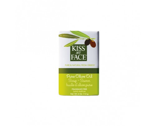 Kiss My Face Bar Soap Pure Olive Oil 4 oz.