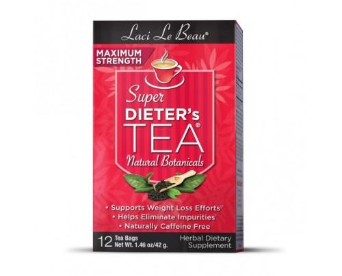 Laci Le Beau Super Dieter's Tea Max Strength All Natural Botanicals 12 Teabags