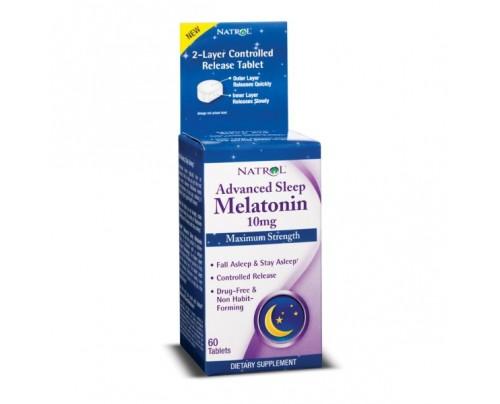 Natrol Advanced Sleep Melatonin 10 mg 60 Tablets