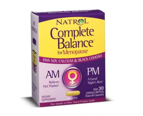 Natrol Complete Balance AM & PM Menopause Formula 60 Capsules
