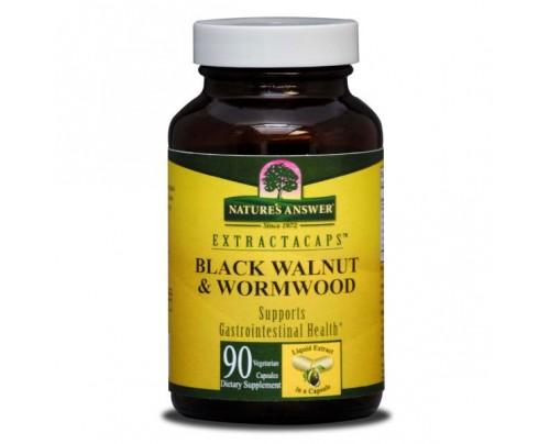 Nature's Answer Black Walnut Wormwood 200 mg Liquid Extractacaps 90 Vegetarian Capsules