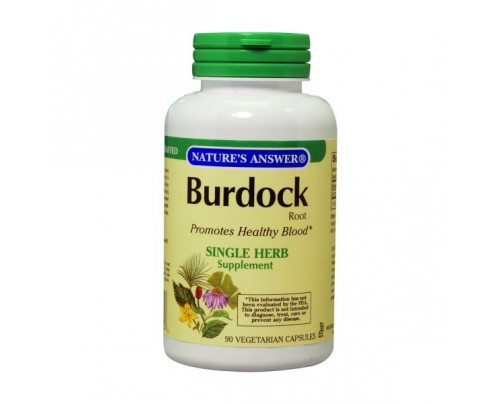 Nature's Answer Burdock Root 500 mg 90 Capsules