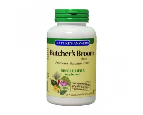 Nature's Answer Butchers Broom Root 500mg 90 Capsules