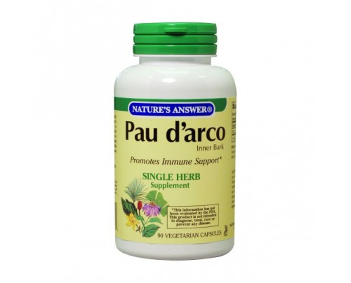 Nature's Answer Pau D'Arco Inner Bark 500mg 90 Capsules