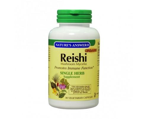 Nature's Answer Reishi Mushroom Mycelia 500mg 90 Vegetarian Capsules
