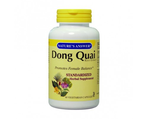 Nature's Answer Dong Quai Root Standardized 250mg 60 Vegetarian Capsules