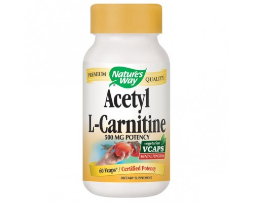 Nature's Way Acetyl L-Carnitine 500mg 60 Vegetarian Capsules