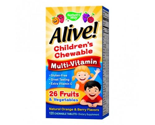 Nature's Way Alive! Children's Multivitamin 120 Chewable Tablets