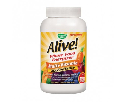 Nature's Way Alive! Max Potency Multivitamin with Iron 180 Tablets