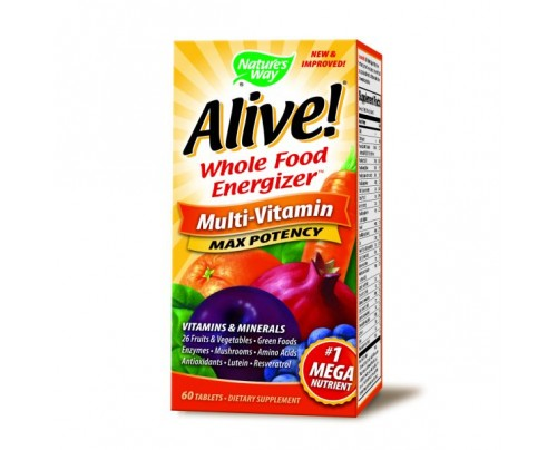 Nature's Way Alive! Max Potency Multivitamin with Iron 60 Tablets