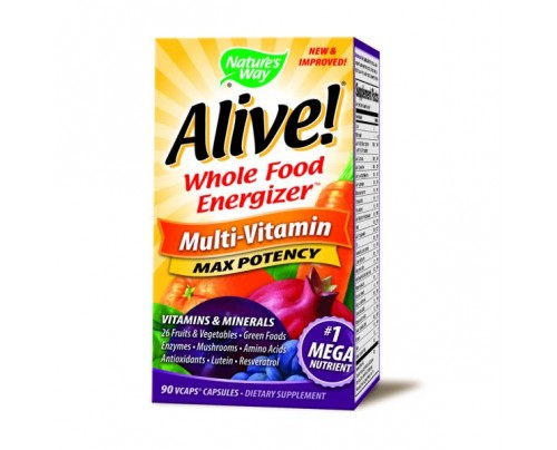 Nature's Way Alive! Max Potency Multivitamin with Iron 90 Vegetarian Capsules