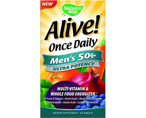 Nature's Way Alive Once Daily Mens 50+ Ultra 60 Tablets