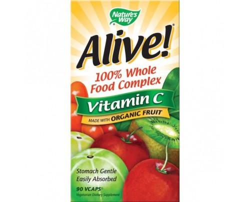 Nature's Way Alive! Organic Vitamin C 120 Vegetarian Capsules