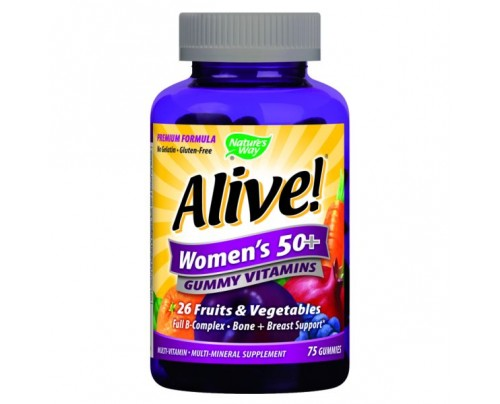 Nature's Way Alive! Women's 50+ Gummy Multi Vitamin 75 Gummies