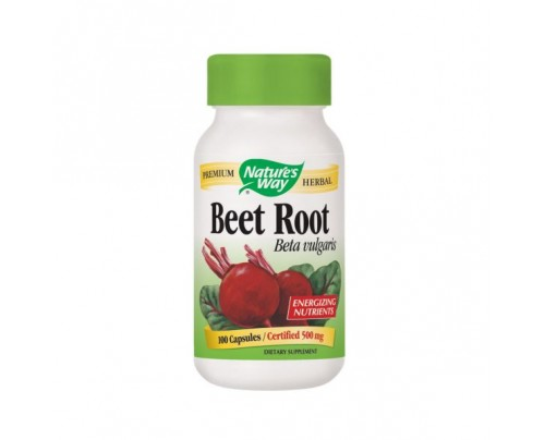 Nature's Way Beet Root Beta vulgaris 500 mg 100 Capsules