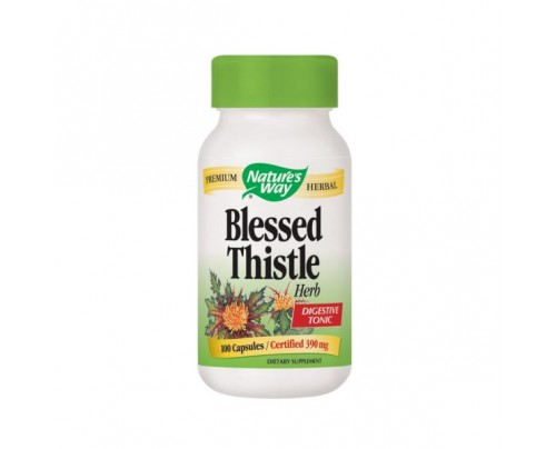 Nature's Way Blessed Thistle Herb Organic (stem, leaf, flower) 390mg 100 Capsules