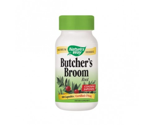 Nature's Way Butcher's Broom 470mg 100 Capsules