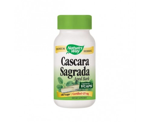 Nature's Way Cascara Sagrada Aged Bark 425mg 100 Vegetarian Capsules