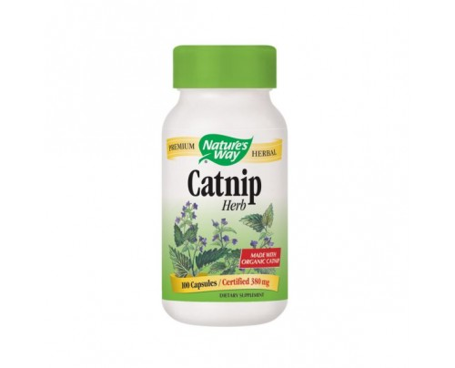 Nature's Way Catnip Herb Organic (stem, leaf, flower) 380 mg 100 Capsules