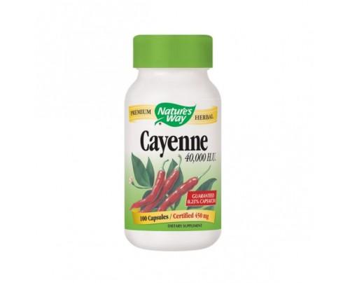 Nature's Way Cayenne Pepper Fruit 40,000 HU 450mg 100 Capsules