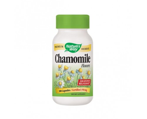 Nature's Way Chamomile Flowers 350mg 100 Capsules
