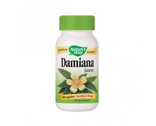 Nature's Way Damiana Leaves 400mg 100 Capsules