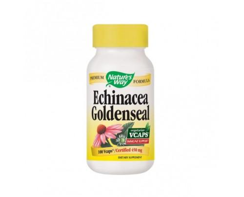 Nature's Way Echinacea Goldenseal 450mg 100 Vegetarian Capsules