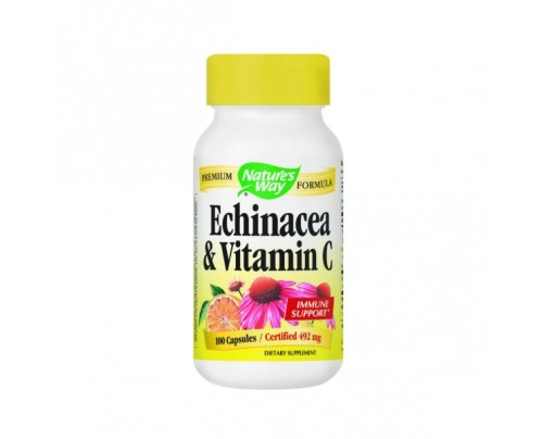 Nature's Way Echinacea with Vitamin C 461 mg 100 Capsules