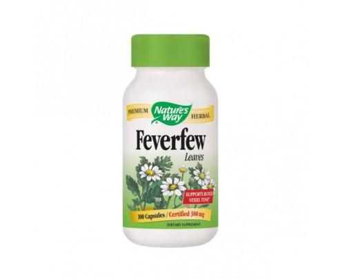 Nature's Way Feverfew Leaf 380mg 100 Capsules