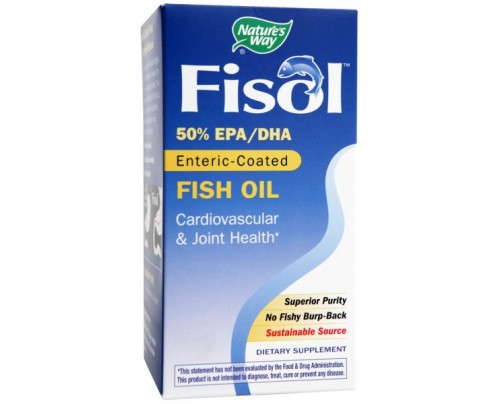 Nature's Way Fisol Delayed-Release Fish Oil 750mg 180 Softgels