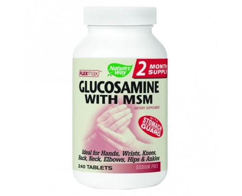 Nature's Way FlexMax Glucosamine with MSM 900mg 240 Capsules
