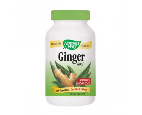 Nature's Way Ginger Root 550 mg 180 Capsules