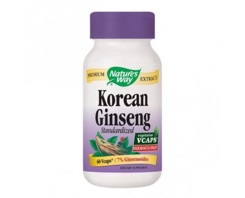 Nature's Way Korean Ginseng Standardized Extract 550mg 60 Vegetarian Capsules
