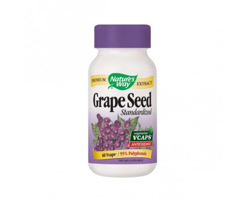Nature's Way Grape Seed Standardized Extract 300mg 60 Vegetarian Capsules