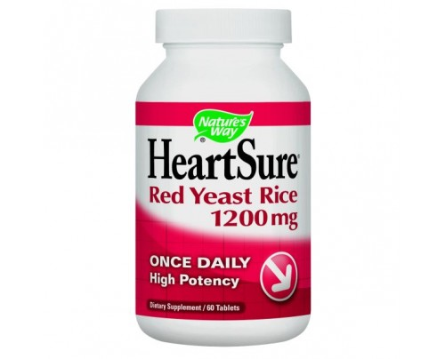 Nature's Way HeartSure Red Yeast Rice 1,200mg 60 Tablets