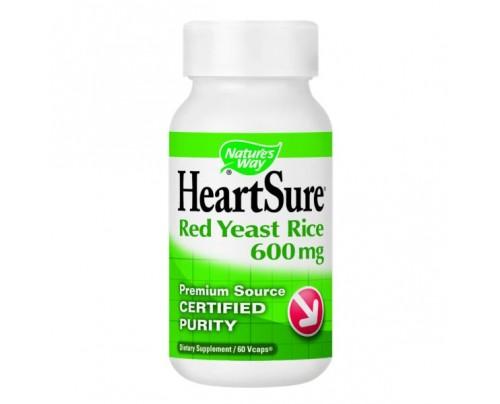 Nature's Way HeartSure Organic Red Yeast Rice 600 mg 60 Vegetarian Capsules