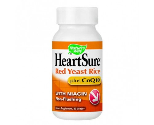 Nature's Way HeartSure Organic Red Yeast Rice with CoQ10 600 mg 60 Vegetarian Capsules