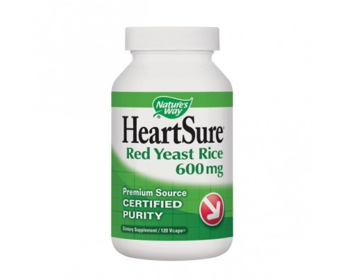 Nature's Way HeartSure Organic Red Yeast Rice 600 mg 120 Vegetarian Capsules