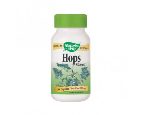 Nature's Way Hops Flowers 310mg 100 Capsules