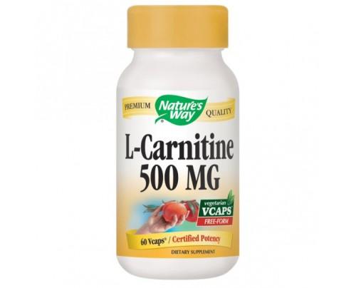 Nature's Way L-Carnitine 500mg 60 Vegetarian Capsules