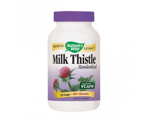 Nature's Way Milk Thistle Standardized Extract 80% Silymarin 80mg 120 Vegetarian Capsules