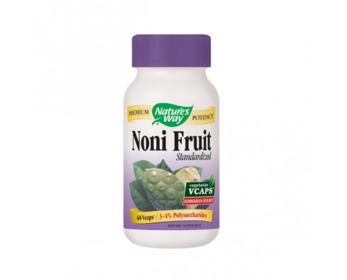 Nature's Way Noni Fruit Standardized Extract 500mg 60 Vegetarian Capsules