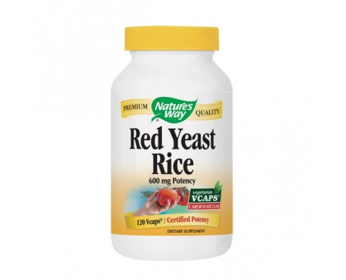 Nature's Way Red Yeast Rice 600mg 120 Vegetarian Capsules