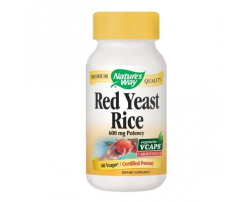 Nature's Way Red Yeast Rice 600 mg 60 Vegetarian Capsules