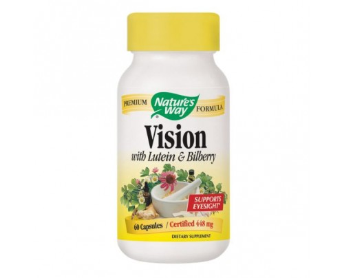 Nature's Way Vision Formula with Lutein & Bilberry 60 Capsules