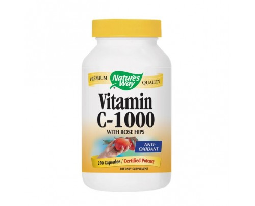 Nature's Way Vitamin C 1000 mg with Rose Hips 250 Capsules