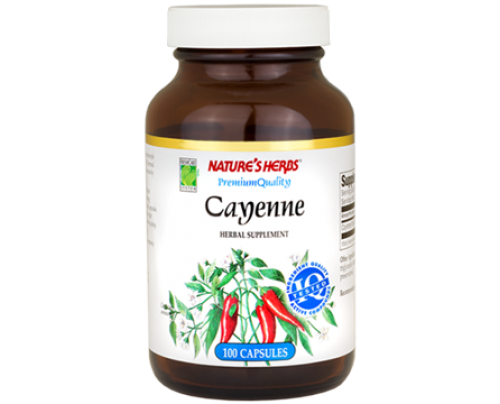 Nature's Herbs Cayenne Fruit 450mg 100 Capsules