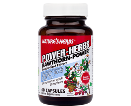 Nature's Herbs Hawthorn Power 1.8% Standardized Extract 100 mg 60 Capsules