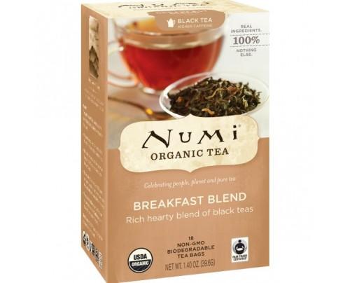 Numi Organic Tea Breakfast Blend Black Tea 18 Tea Bags